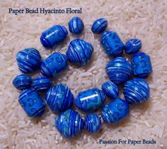 Paper Beads Hyacintho Floral   by PassionForPaperBeads on Etsy