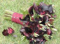 black calla lily bouquet - Google Search