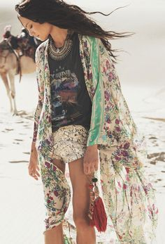 JUST ARRIVED! www.thefreedomstate.com.au Gypsy Queen Maxi Kimono | Spell Designs