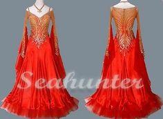 Ballroom Everday Tango Watlz Standard Foxstep Dance Dress US 6 UK 8 Skin Red