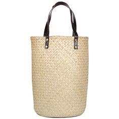 Over-sized Rattan Basket Shopper