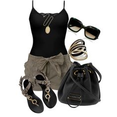 A fashion look from April 2013 featuring BKE tops, Miss Selfridge shorts and Giuseppe Zanotti sandals. Browse and shop related looks.