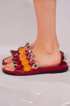 Prepare to Take Some Style Risks After Seeing the Genius Shoes at London Fashion Week  Anya Hindmarch Spring '17