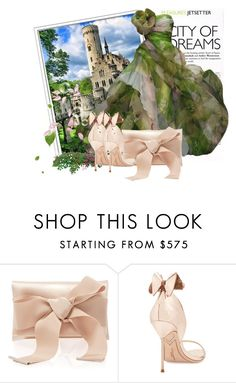 """dream ball"" by tatarataratata ❤ liked on Polyvore featuring Oscar de la Renta and Sophia Webster"
