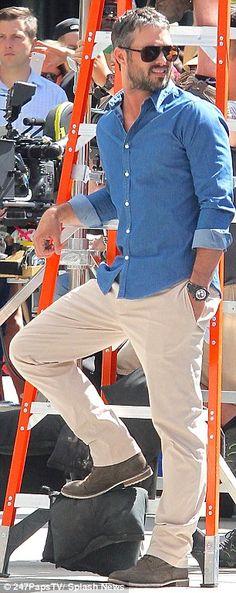 Cameron Diaz locks lips with Lady Gaga's boyfriend Taylor Kinney on set of their new film Lancaster, Lady Gaga, Taylor Kinney Chicago Fire, Gorgeous Men, Beautiful People, Sharp Dressed Man, Models, Classy And Fabulous, Good Looking Men