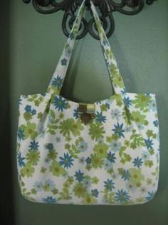 Pleated tote bag pattern