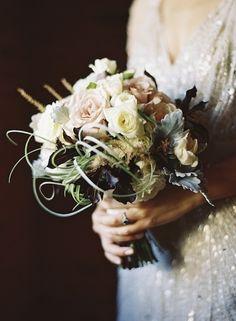 Romantic wedding bouquet of soft pastels