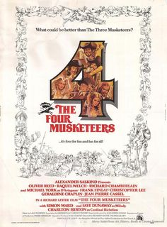 The Four Musketeers: Milady's Revenge (1974) - The Four Musketeers defend the queen and her dressmaker from Cardinal Richelieu and Milady de Winter.