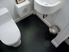 Top 60 Best Bathroom Floor Design Ideas - Luxury Tile Flooring Inspiration Black Bathroom Floor, Best Bathroom Flooring, Black Floor, Bathroom Floor Tiles, White Bathroom, Small Bathroom, Tile Bathrooms, Mosaic Bathroom, Kitchen Floor