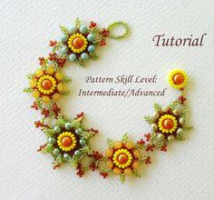 Beading tutorial beadweaving pattern beaded seed by PeyoteBeadArt