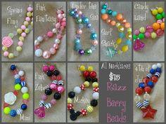 Chunky Necklace  Acrylic Gumball Chunky Jewelry by RazzBerryBeads, $15.00