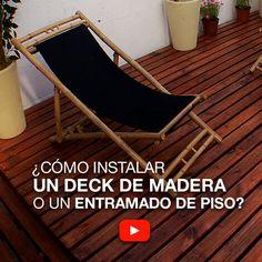 ¿Cómo instalar un deck de madera o un entramado de piso?