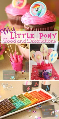 My Little Pony Birthday party ~ Great ideas for food and decorating for a My Little Pony Party! I love the recipe for breakfast! So cute and perfect for an MLP party.