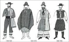 Gauchos outfits over time- Argentina. http://whatthefog.files.wordpress.com/2010/05/gauchos.jpg