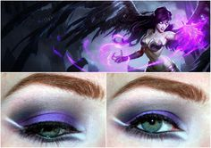League of Legends inspired Makeup - Morgana