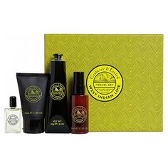 Crabtree & Evelyn West Indian Lime Travel Set, Treat a loved one to the Crabtree & Evelyn West Indian Lime Travel Set for men, attractively presented in handsomely designed gift box.
