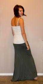 Tasha Delrae: Slinky Maxi Skirt DIY