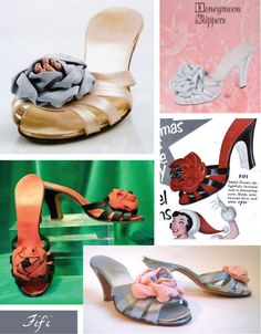 Keep your toes cozy and your feet cushioned in any of these comfortable, soft slippers or moccasins from Daniel Green. Vintage Clothing, Vintage Outfits, Vintage Fashion, Daniel Green Slippers, Fur Sliders, 1940s Shoes, Green Companies, Soft Slippers, Womens Slippers