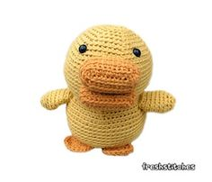 Amigurumi Malcolm the Duck - $5.00 by Stacey Trock of Fresh Stitches / Ducks - Animal Crochet Pattern Round Up - Rebeckah's Treasures