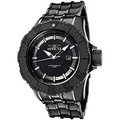 Invicta Mens 0504 Pro Diver Collection Black IonPlated Stainless Steel Watch >>> Find out more about the great product at the image link.