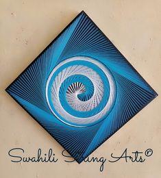String Art Templates, String Art Tutorials, String Art Patterns, String Wall Art, Nail String Art, Rope Crafts, Thread Art, Generative Art, Pin Art