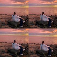 @alicia_mckertish   #sunset #rose #pink #ocean #corona #white #relaxing Pink Ocean, Celestial, Sunset, Rose, Outdoor, Corona, Sunsets, Outdoors, Roses