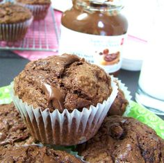 Double Chocolate Muffins with Nutella swirl