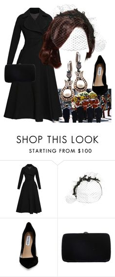 """""""#crossover Mahpeyker Sultan attending the funeral of King James IV of the United Kingdom at Westminster Abbey"""" by mahpeykersultan ❤ liked on Polyvore featuring Emilia Wickstead, Steve Madden and Sergio Rossi"""