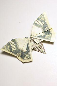 Oragami Money, Origami Cards, Folding Money, Dollar Bill Origami, Origami Patterns, Origami Butterfly, Wedding Souvenir, Beautiful Butterflies, Wedding Decoration
