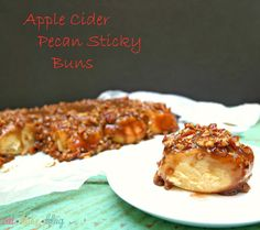 Apple Cider Pecan Sticky Buns