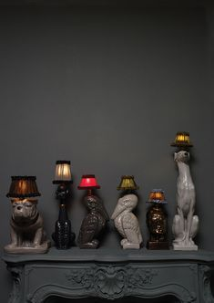 Animal Lamps by Atelier Abigail Ahern - looks like the run 200-300 pounds - but so unique!