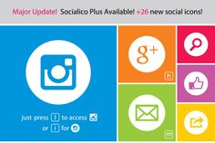 Social Media Icons Pack #fonts #design #graphicdesign