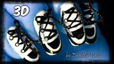 Converse Shoe Nail Art - Nails Art 2014 NEW - 3D Nail Tutorial 2014