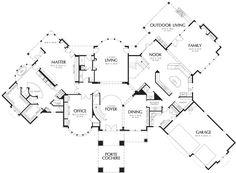 6497 square feet 5 bedrooms 6 5 bathroom european house plans 3 garage - DreamHouse Plan - Easy Home Plans Dream House Plans, House Floor Plans, Two Story Foyer, European House Plans, Living Room Furniture Layout, Kitchen Furniture, Monster House Plans, Basic Kitchen, Outdoor Kitchen Design