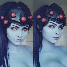 "7,103 curtidas, 16 comentários - Miccostumes (@miccostumes) no Instagram: ""Widowmaker Makeup️ Cosplayer: @fenrirprime Credit: @theartofcosplayofficial #widowmaker…"""