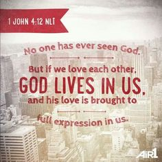 God lives in us