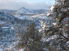 Prescott, AZ : Thumb Butte Snow 2