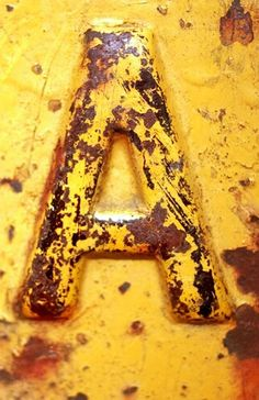 Rusty Yellow Letter A