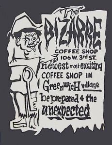 Cafe Bizarre Greenwich Village ad (late 50s)