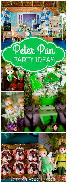 You won't believe all the amazing ideas at this Peter Pan party! See more party ideas at Catchmyparty.com!
