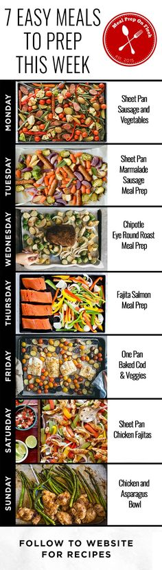 One Pan Make Ahead Meal Prep Recipes - 7 Easy Meals to Meal Prep This Week - Get dinner on the table, or your meals ready for the week, fast with these easy to meal prep sheet pan dinners. #mealprep #mealplanning