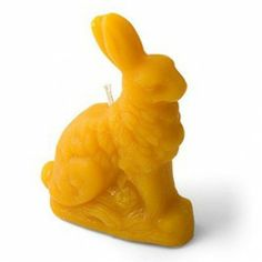 Beeswax Candle - Sitting Bunny