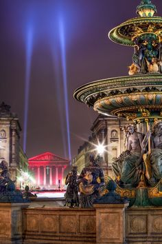 Fountains and La Madeleine Church, Place de la Concorde, Paris, France. Photo by Joe Daniel Price. Places Around The World, Oh The Places You'll Go, Places To Travel, Places To Visit, Around The Worlds, Concorde, Paris Travel, France Travel, Paris France
