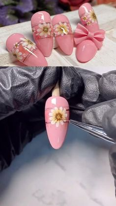 This small fresh sun flower nail design, like the sun, brings a warm feeling, allowing you to maintain a good mood for the day, ✌️ Rose Nail Art, Floral Nail Art, Rose Nails, 3d Flower Nails, Nail Art Designs Videos, Nail Art Videos, Nail Art Hacks, Nail Art Diy, Milky Nails