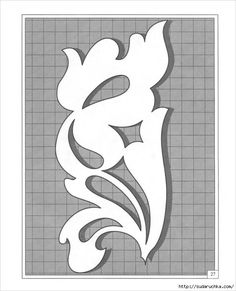 I love the blend of asymmetry and symmetry in this one pattern. Stencil Patterns, Stencil Designs, Designs To Draw, Scroll Saw Patterns, Scroll Design, Ribbon Embroidery, Embroidery Patterns, Quilting For Beginners, Fabric Painting