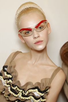 Prada Eyebrow Sunglasses #backstage