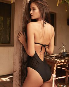 4a9abfd34b701 Romantic feels in the Ella Moss Sheer Dot One piece.