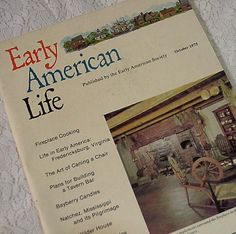 Vintage Early American Life Magazine October by ITSYOURCOUNTRY, $15.99