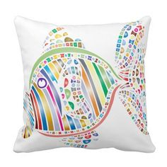 Colorful Fish 2 Sided Pillow