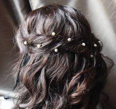 wedding hair pearls - Google Search